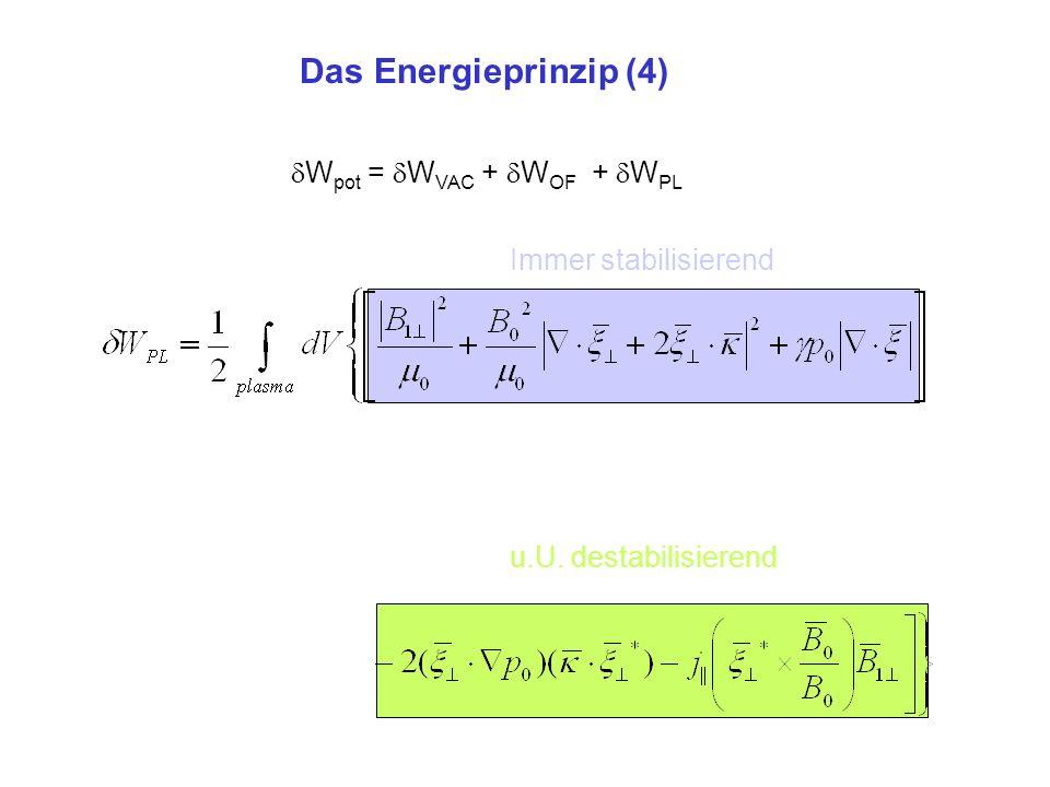Das Energieprinzip (4) Wpot = WVAC + WOF + WPL