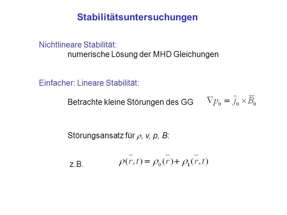 Stabilitätsuntersuchungen