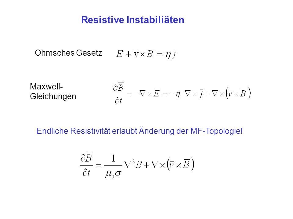 Resistive Instabiliäten