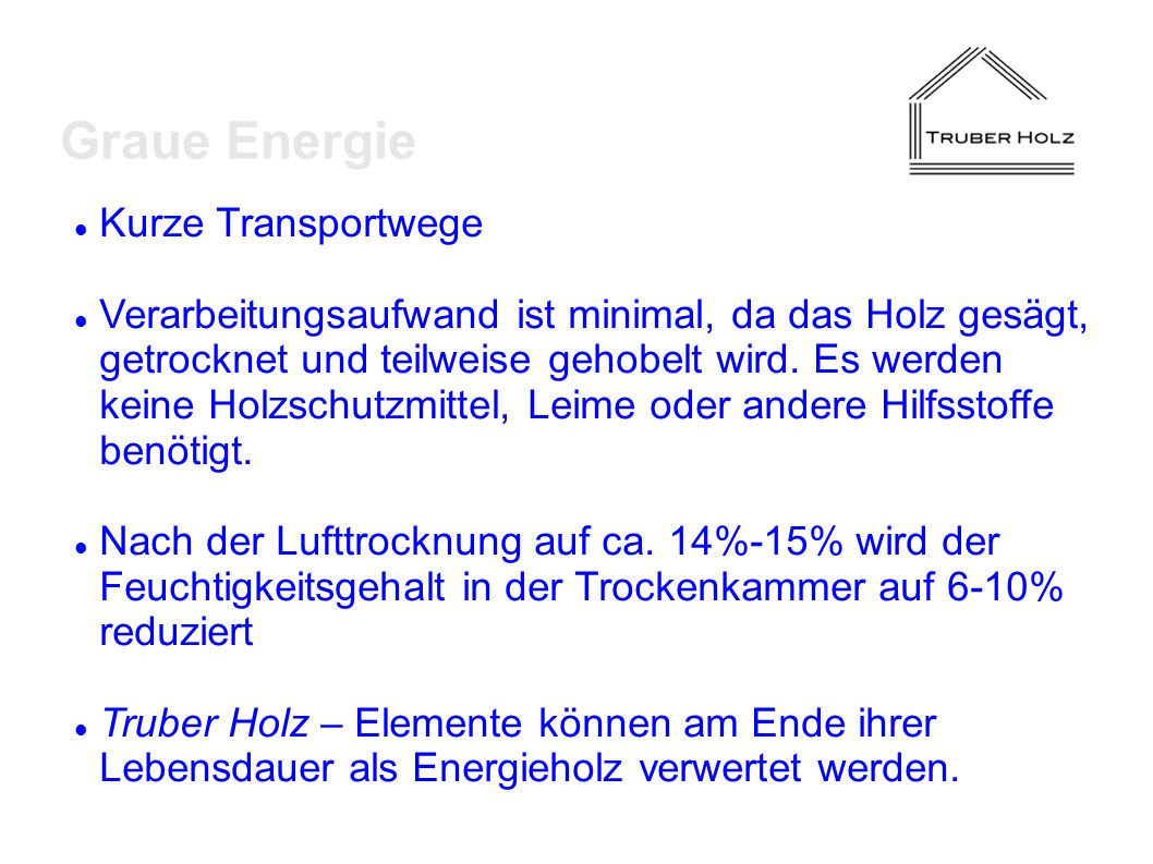 Graue Energie Kurze Transportwege