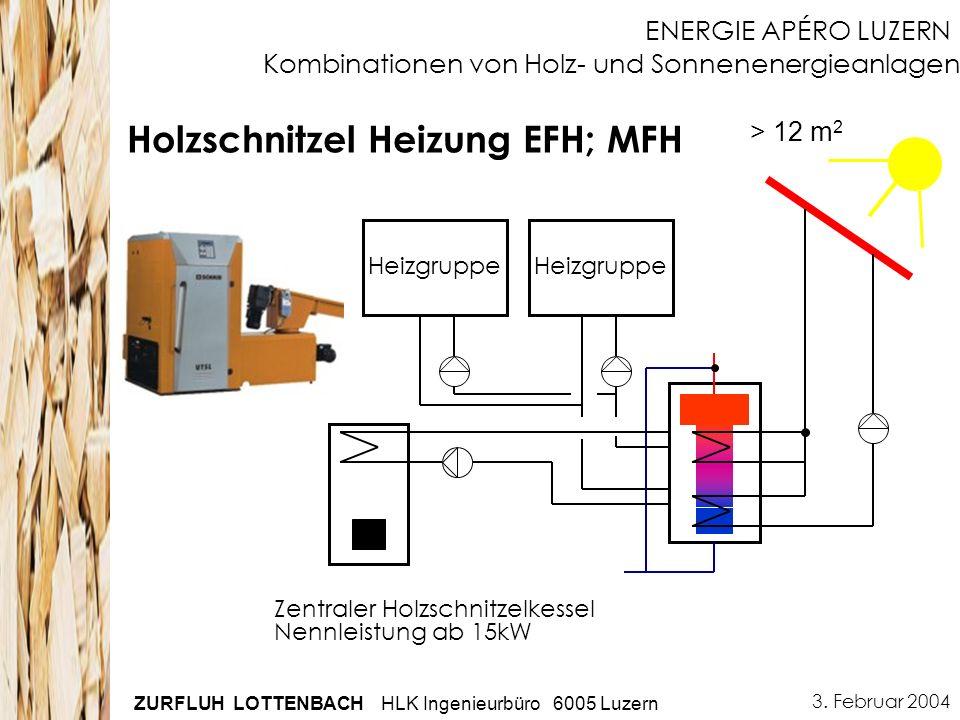 Kombinationen von Holz- und Sonnenenergieanlagen