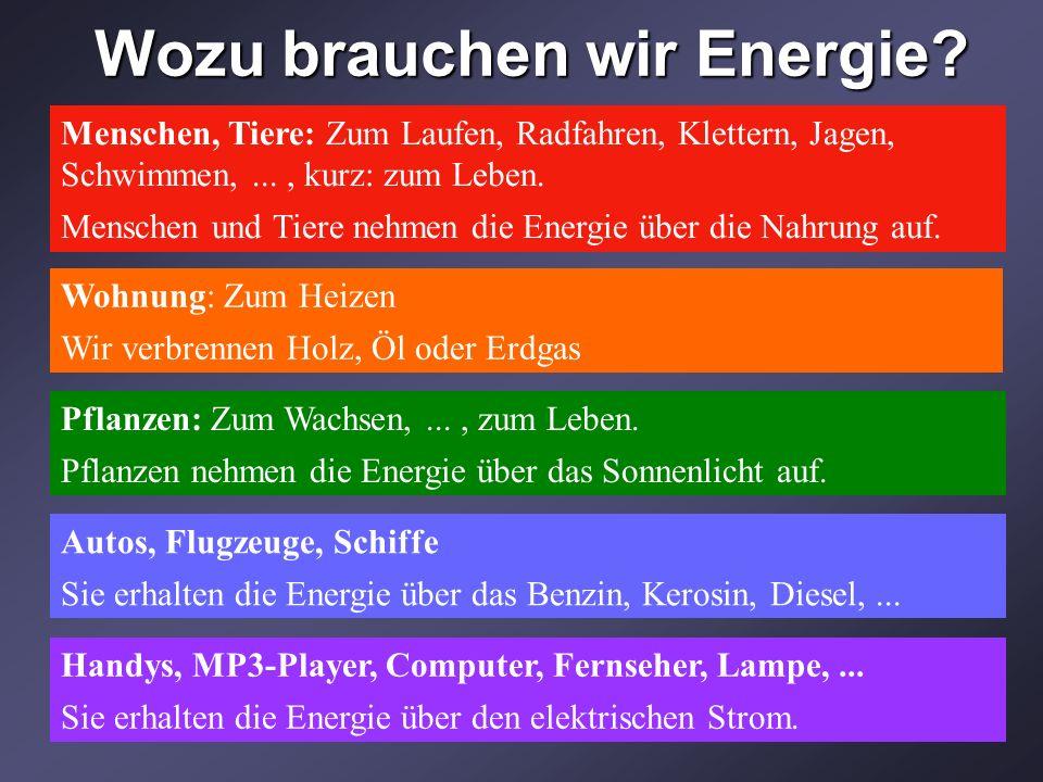 Wozu brauchen wir Energie