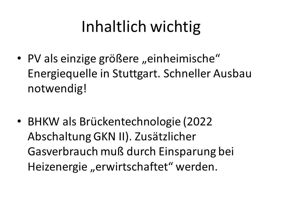 """Inhaltlich wichtig PV als einzige größere """"einheimische Energiequelle in Stuttgart. Schneller Ausbau notwendig!"""