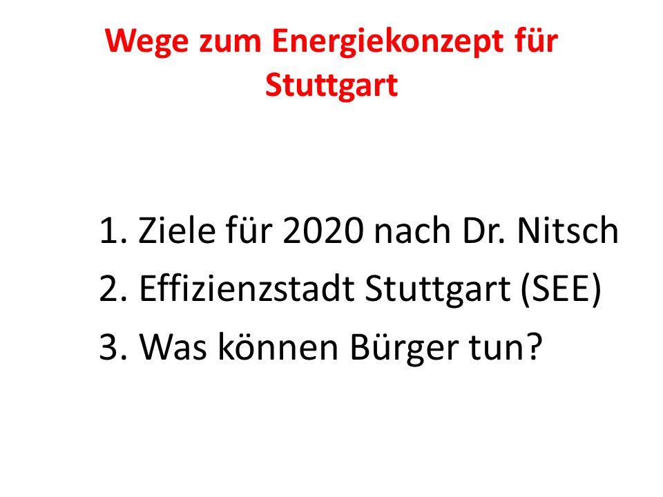 Wege zum Energiekonzept für Stuttgart