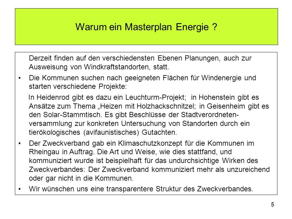 Warum ein Masterplan Energie