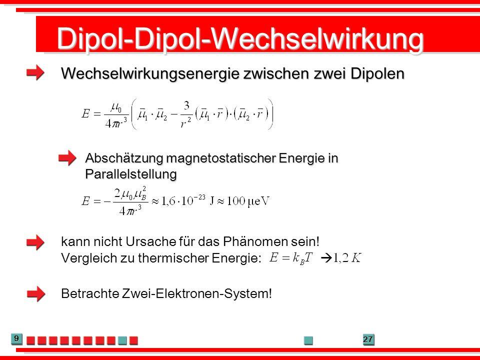 Dipol-Dipol-Wechselwirkung