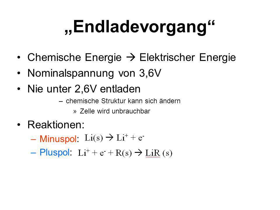 """""""Endladevorgang Chemische Energie  Elektrischer Energie"""
