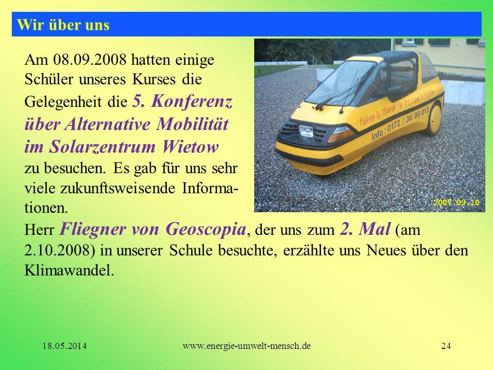 über Alternative Mobilität im Solarzentrum Wietow