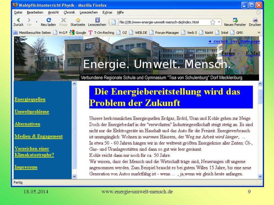 31.03.2017 www.energie-umwelt-mensch.de