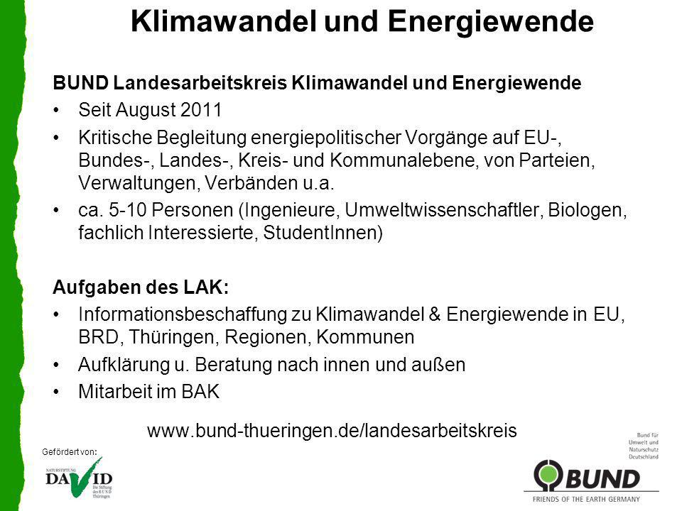 Klimawandel und Energiewende