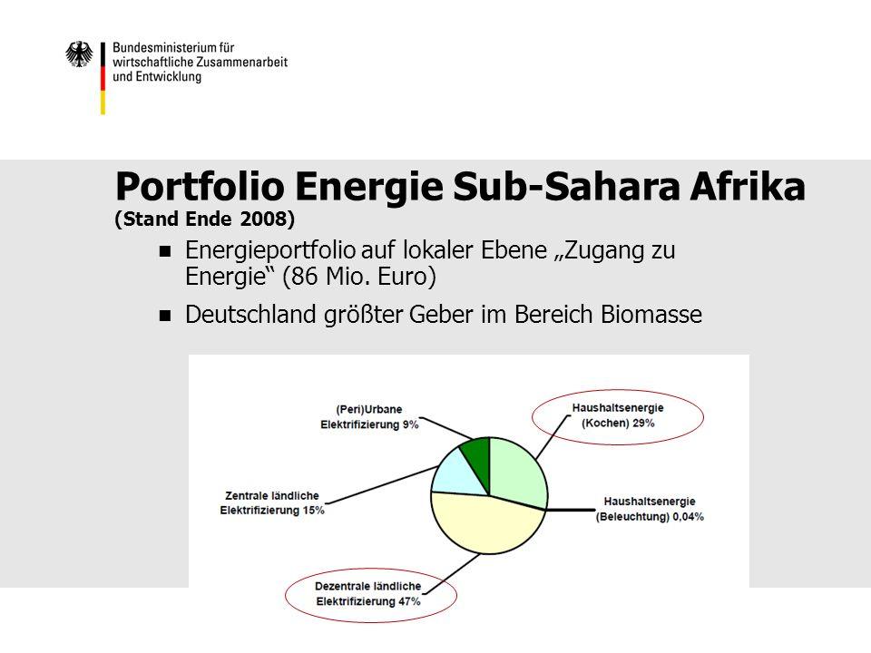 Portfolio Energie Sub-Sahara Afrika (Stand Ende 2008)