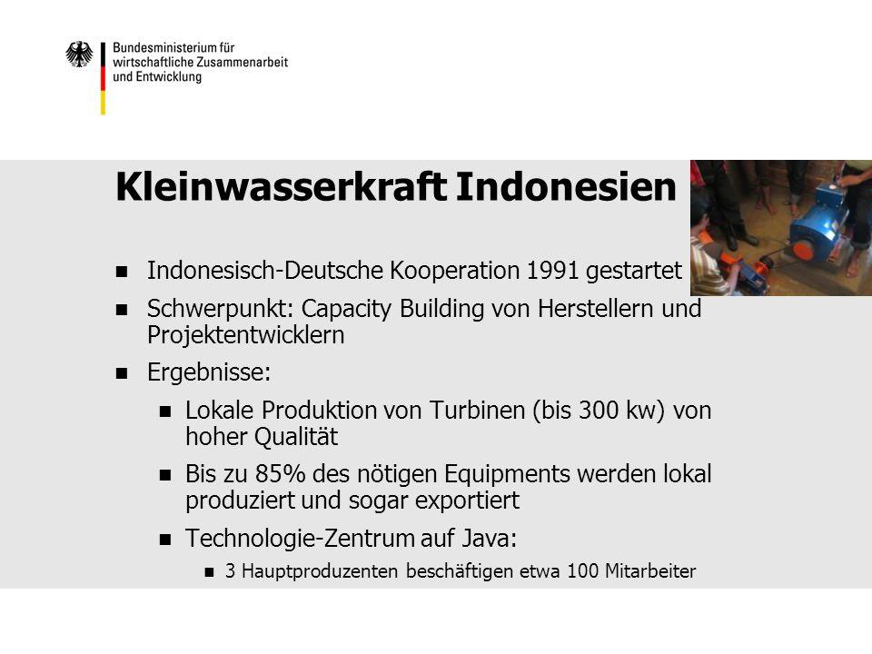 Kleinwasserkraft Indonesien
