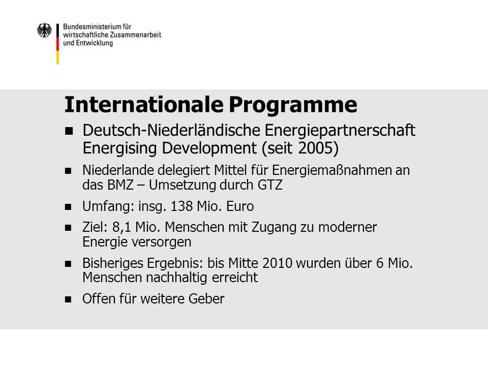 Internationale Programme