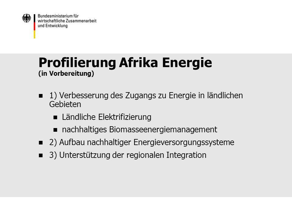 Profilierung Afrika Energie (in Vorbereitung)