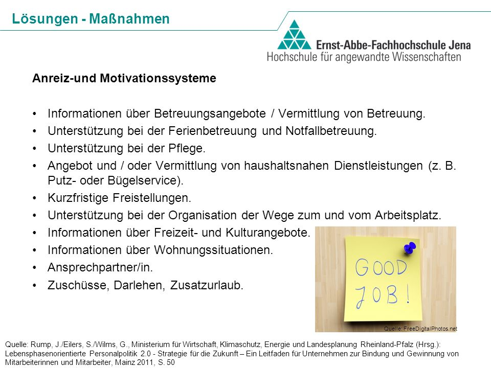 Lösungen - Maßnahmen Anreiz-und Motivationssysteme