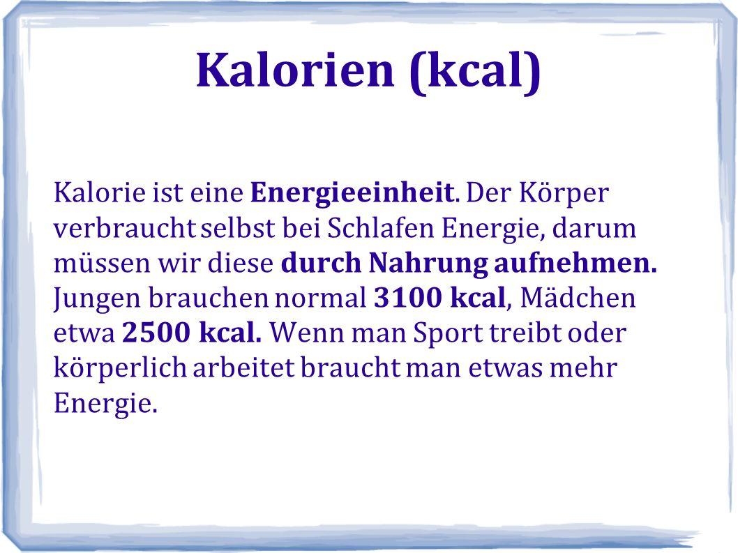 Kalorien (kcal)