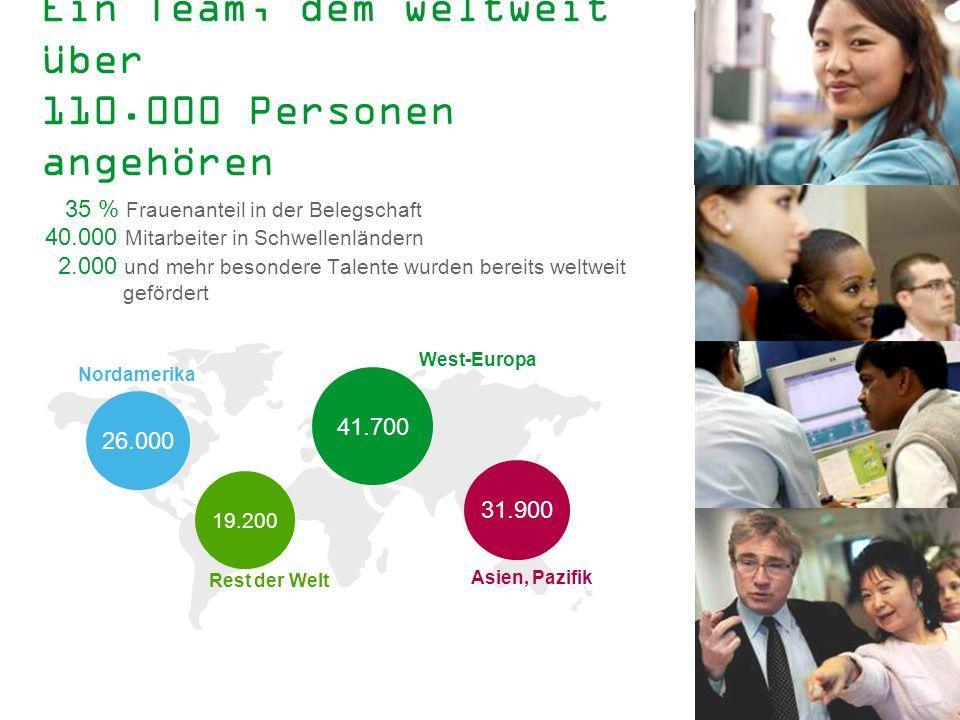 Ein Team, dem weltweit über 110.000 Personen angehören
