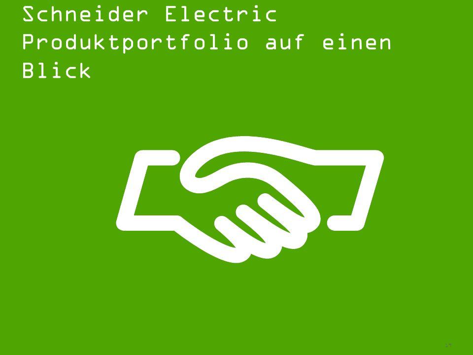 Schneider Electric Produktportfolio auf einen Blick