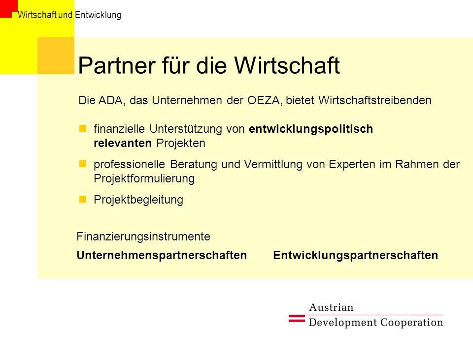 Partner für die Wirtschaft