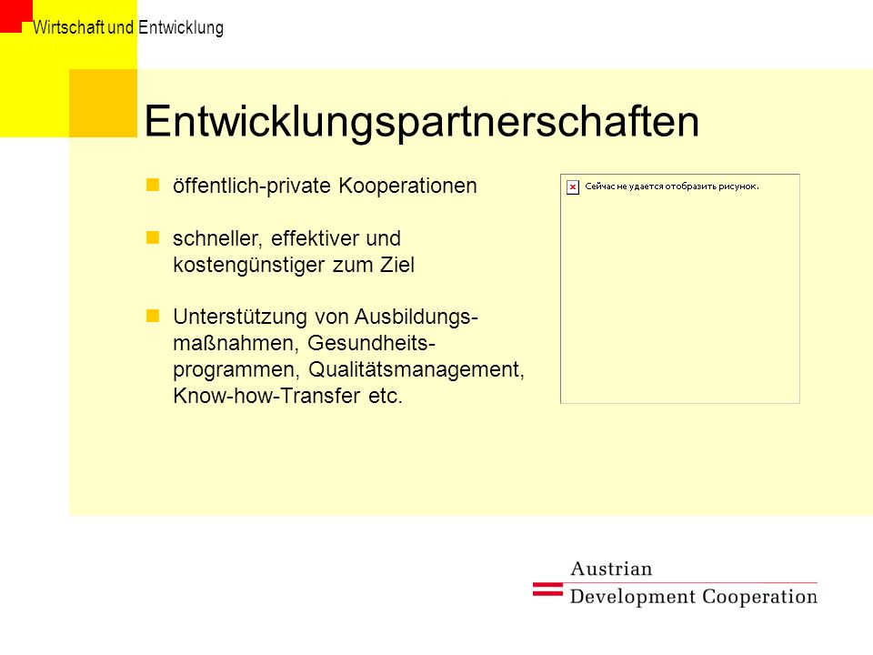 Entwicklungspartnerschaften