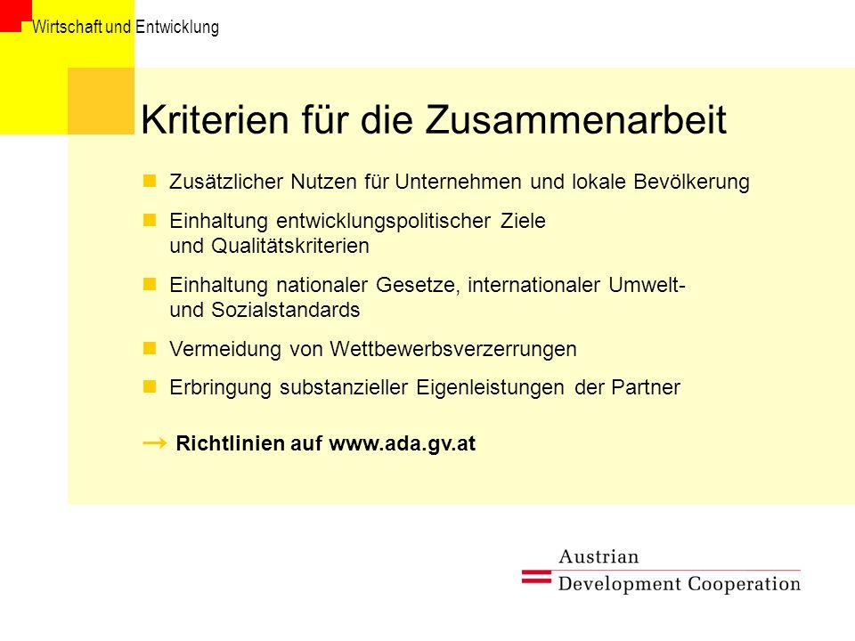 Kriterien für die Zusammenarbeit