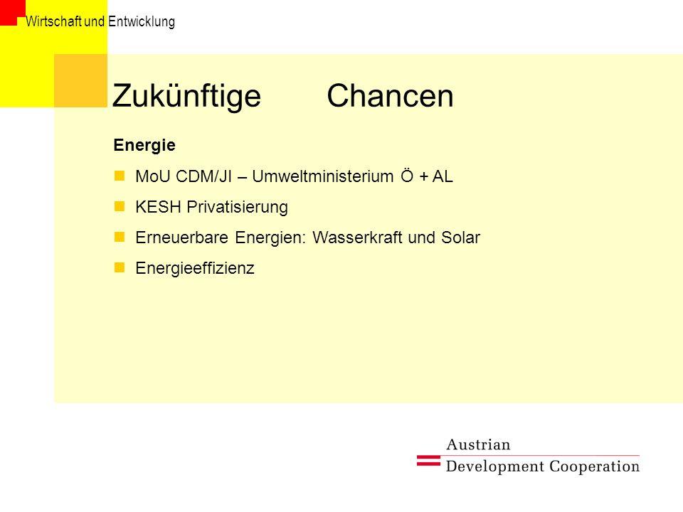 Zukünftige Chancen Energie MoU CDM/JI – Umweltministerium Ö + AL