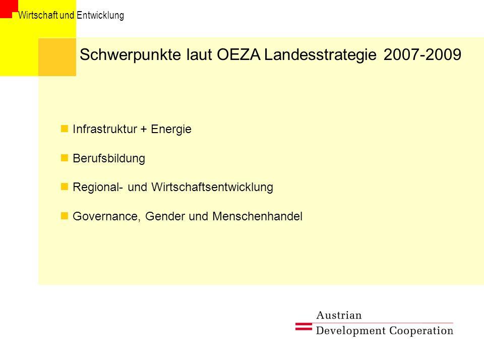 Schwerpunkte laut OEZA Landesstrategie 2007-2009