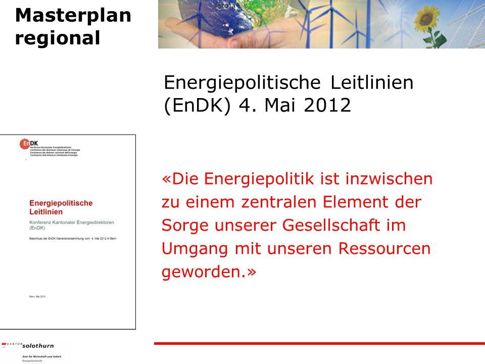Energiepolitische Leitlinien (EnDK) 4. Mai 2012