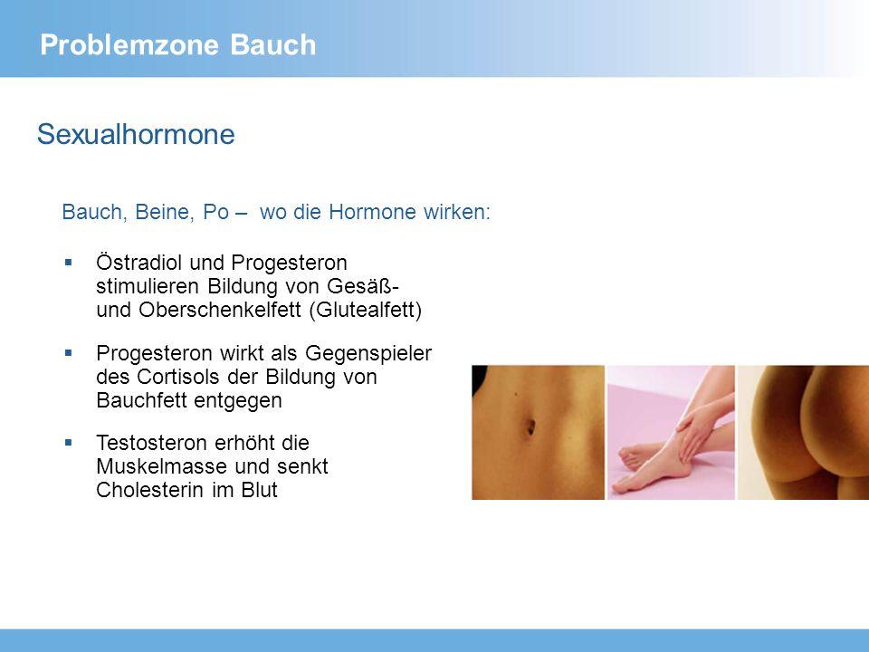 Sexualhormone Bauch, Beine, Po – wo die Hormone wirken: