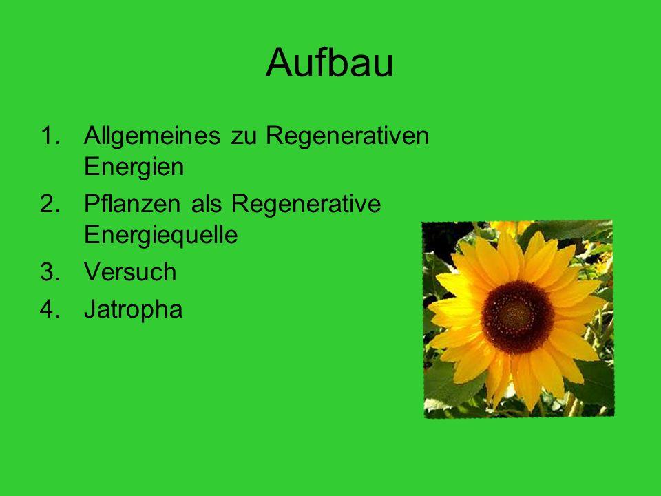 Aufbau Allgemeines zu Regenerativen Energien