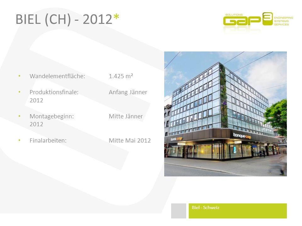 Biel (CH) - 2012* Wandelementfläche: 1.425 m²