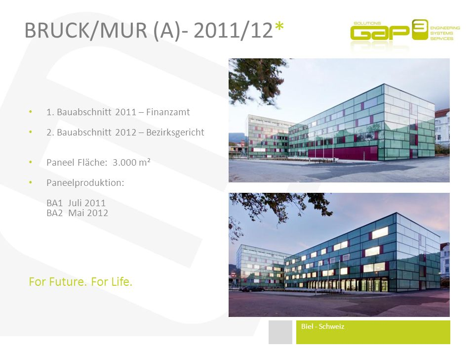 Bruck/Mur (A)- 2011/12* For Future. For Life.