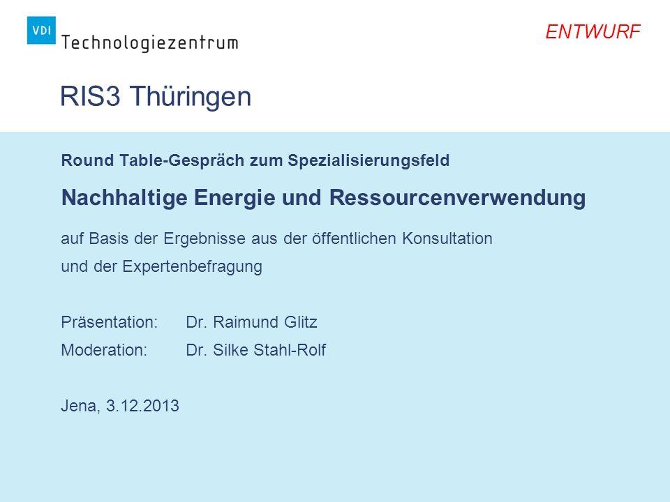 RIS3 Thüringen Nachhaltige Energie und Ressourcenverwendung