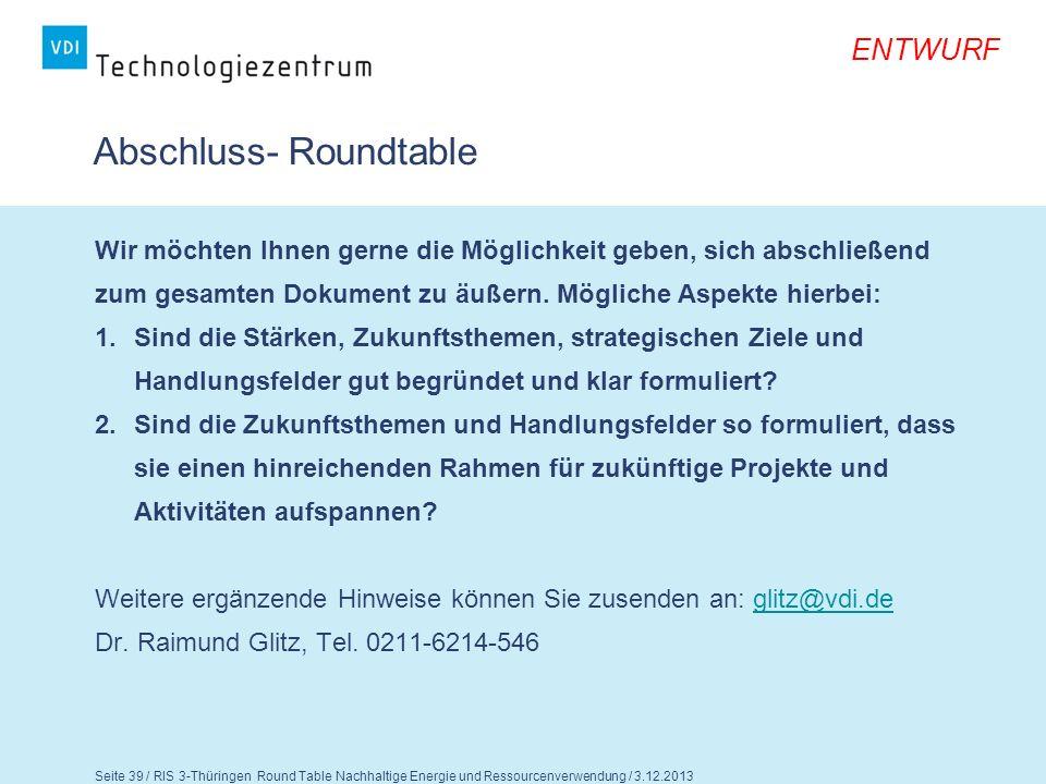 Abschluss- Roundtable