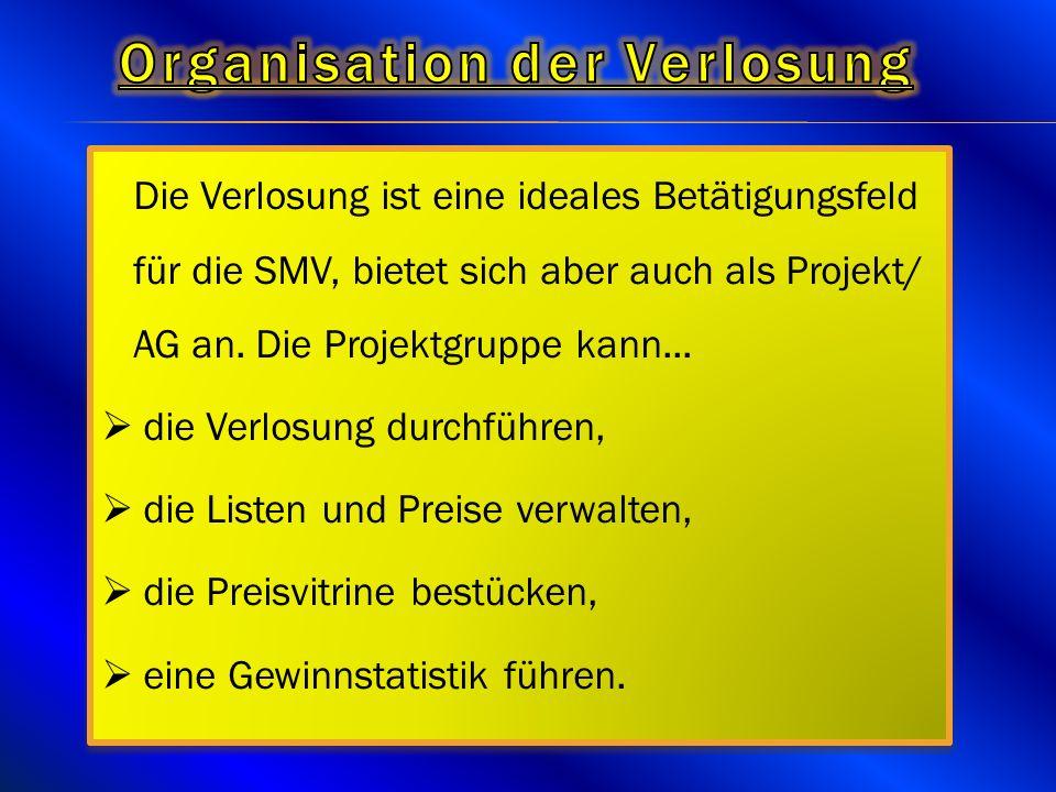 Organisation der Verlosung