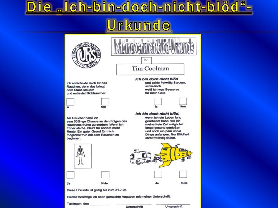 """Die """"Ich-bin-doch-nicht-blöd -Urkunde"""