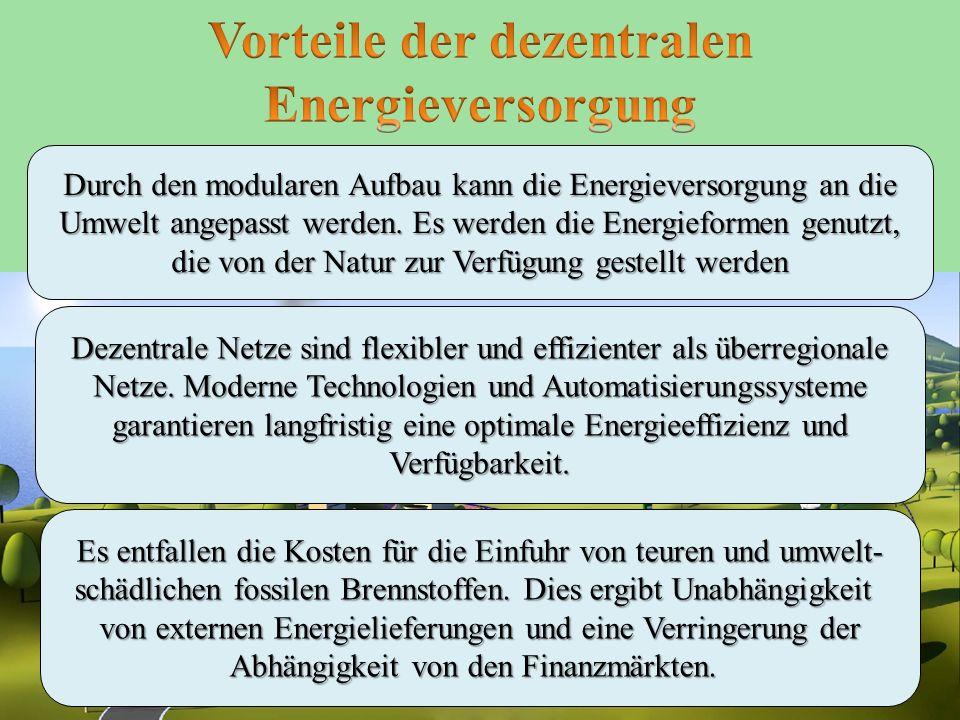 Vorteile der dezentralen Energieversorgung