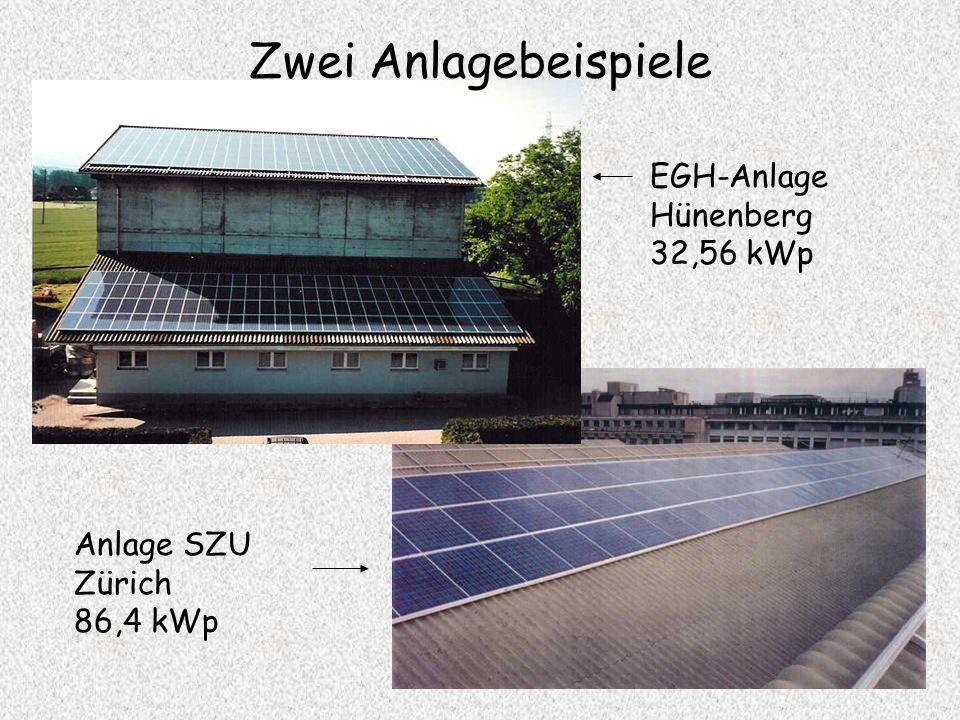 Zwei Anlagebeispiele EGH-Anlage Hünenberg 32,56 kWp