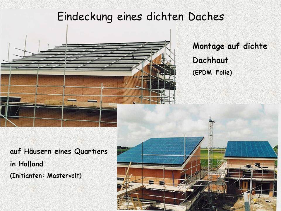 Eindeckung eines dichten Daches