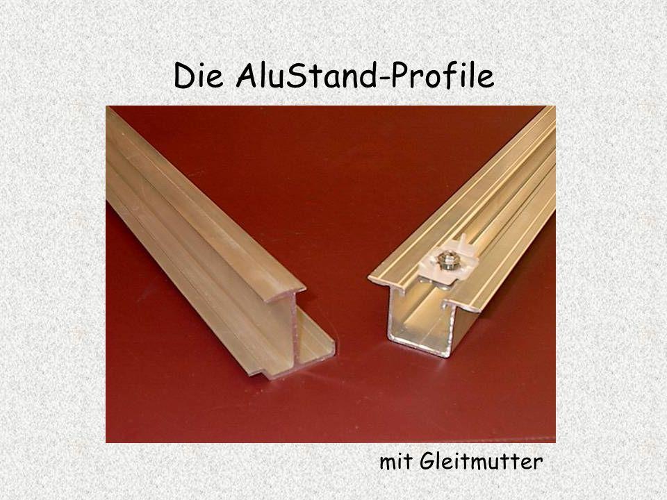 Die AluStand-Profile mit Gleitmutter