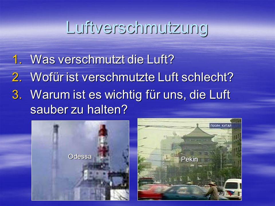 Luftverschmutzung Was verschmutzt die Luft