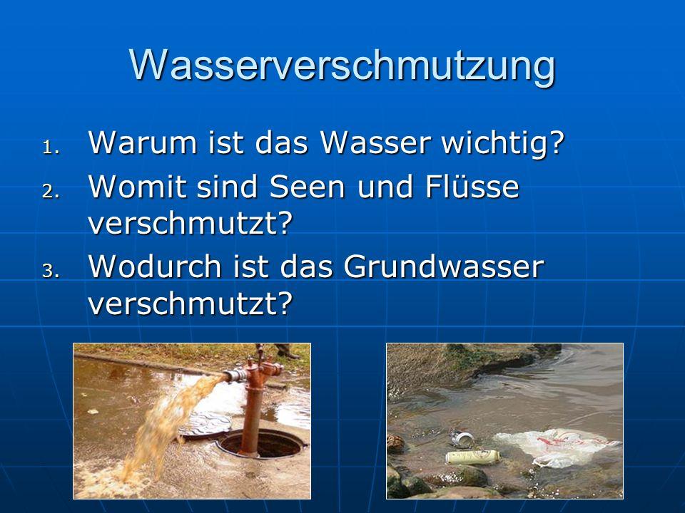 Wasserverschmutzung Warum ist das Wasser wichtig