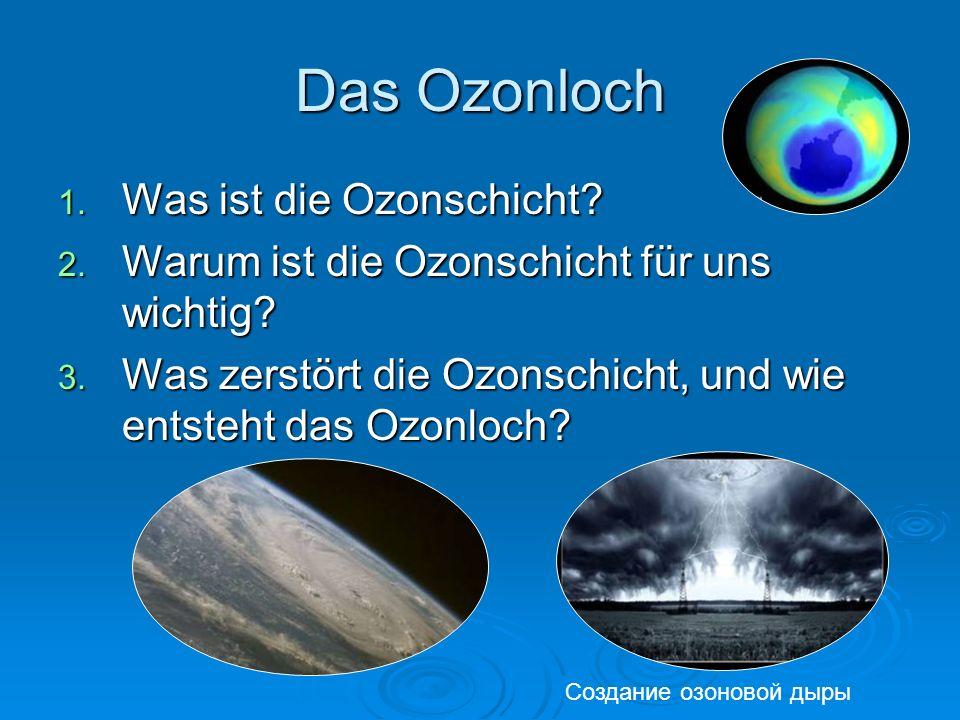 Das Ozonloch Was ist die Ozonschicht