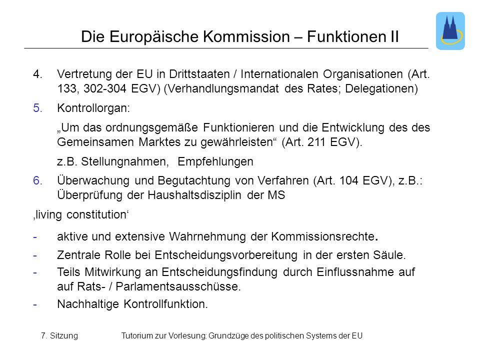 Die Europäische Kommission – Funktionen II