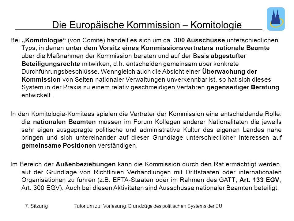 Die Europäische Kommission – Komitologie
