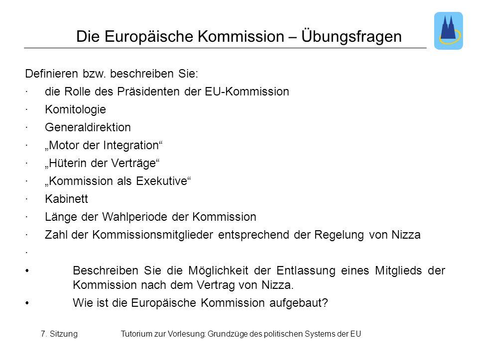 Die Europäische Kommission – Übungsfragen