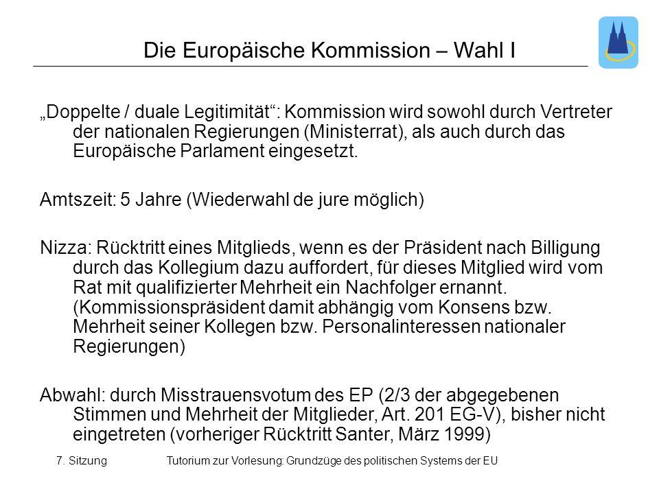 Die Europäische Kommission – Wahl I