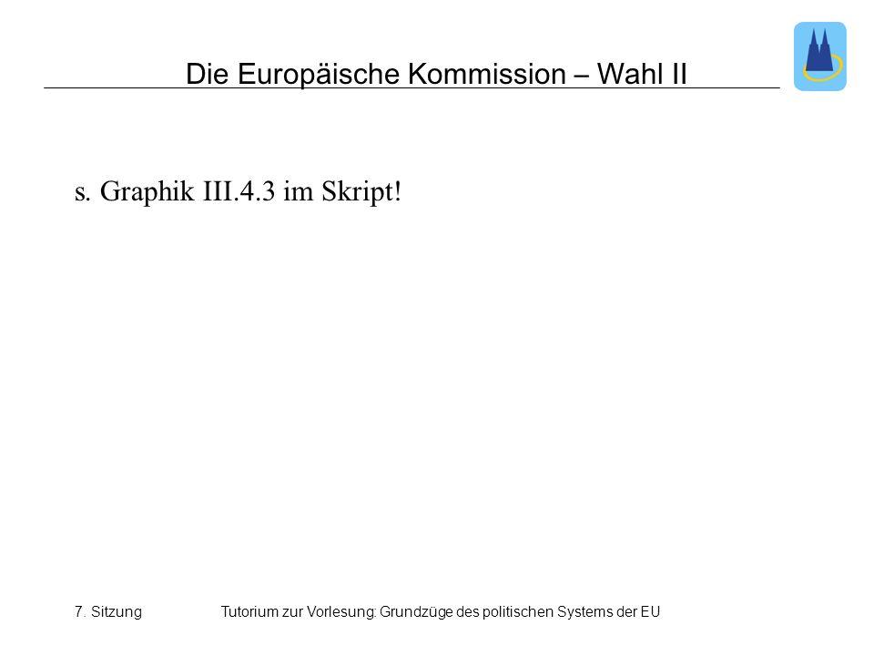 Die Europäische Kommission – Wahl II