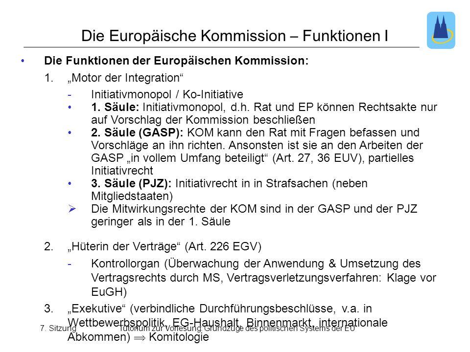Die Europäische Kommission – Funktionen I