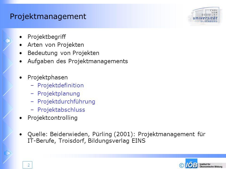 Projektmanagement Projektbegriff Arten von Projekten